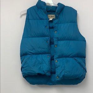 Vtg Goose Down LL Bean Puffer Sleeveless Jacket